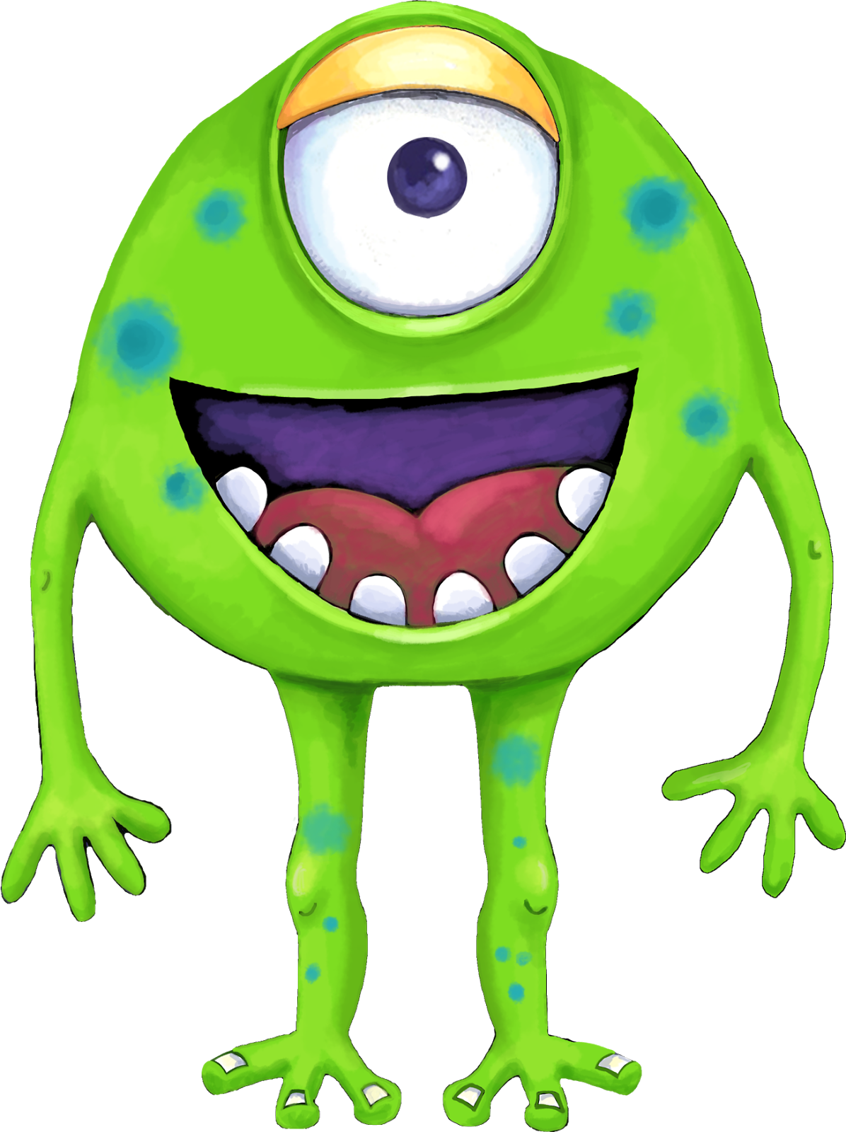 1196x1600 Your Free Art Cute Blue, Purple And Green Cartoon Alien Monsters