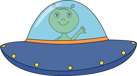 550x305 Alien Flying Ufo Clipart
