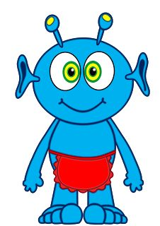 226x320 Alien Clipart Blue Alien