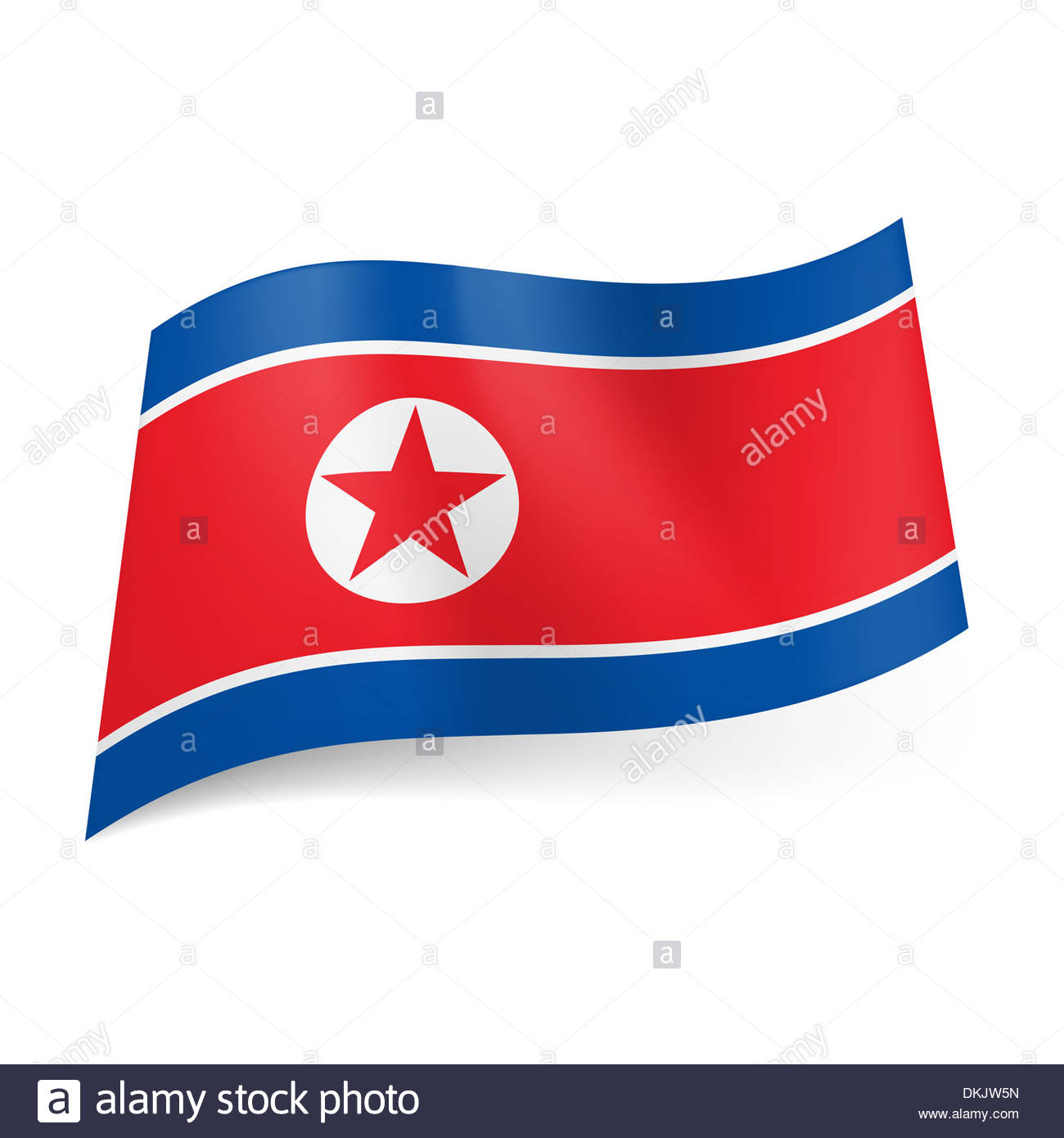 1300x1390 National Flag Of North Korea Red Star In White Circle On Red