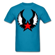 190x190 Red Star With Wings T Shirt Spreadshirt