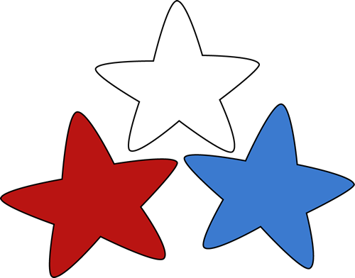 500x392 Stars Clipart Red And Blue