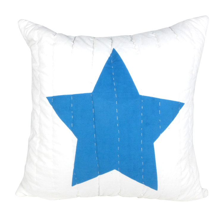 750x750 Buy Blue And Red Star Printed Cushion And Linen Cushions Online