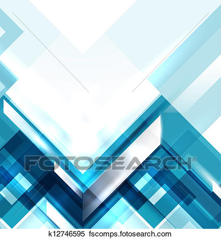435x470 Clipart Of Blue Modern Geometric Abstract Background K12746595