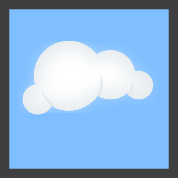 600x600 Cloud Blue Background 72px Clip Art
