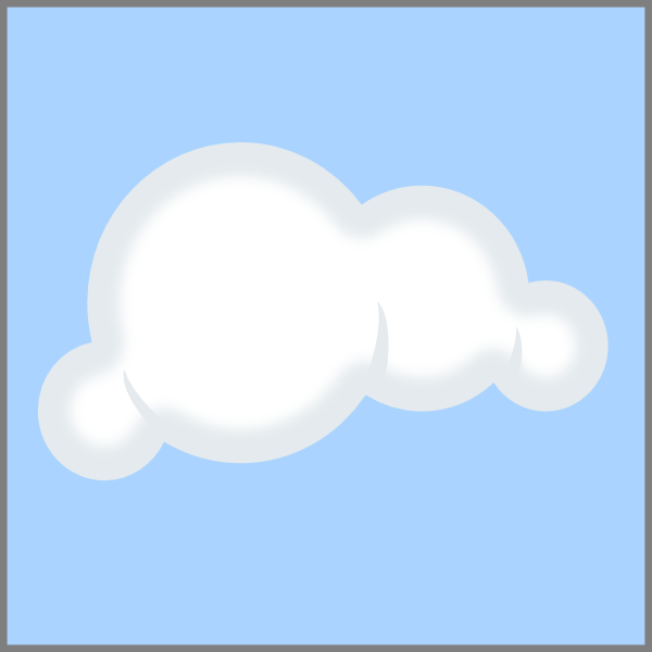 600x600 Cloud Blue Background Clip Art
