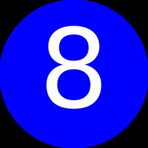 300x300 Number 8 Blue Background Clip Art