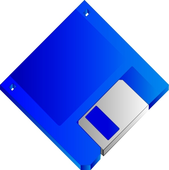 594x595 Sabathius Floppy Disk Blue No Label Clip Art Free Vector In Open