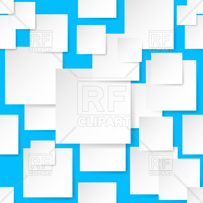 400x400 Seamless Blue Background With Overlapping Paper Squares Royalty
