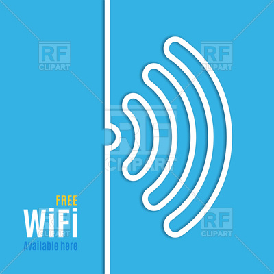 400x400 Wifi Icon On Blue Background Royalty Free Vector Clip Art Image