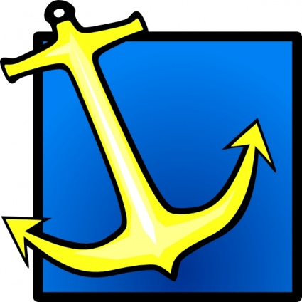 425x424 Output Clipart Yellow Anchor Blue Background Clip