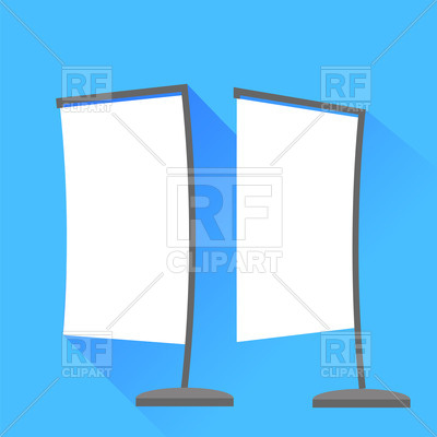 400x400 Banners Icons On Blue Background Royalty Free Vector Clip Art