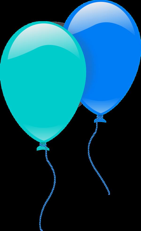 600x983 Blue Balloons Clipart
