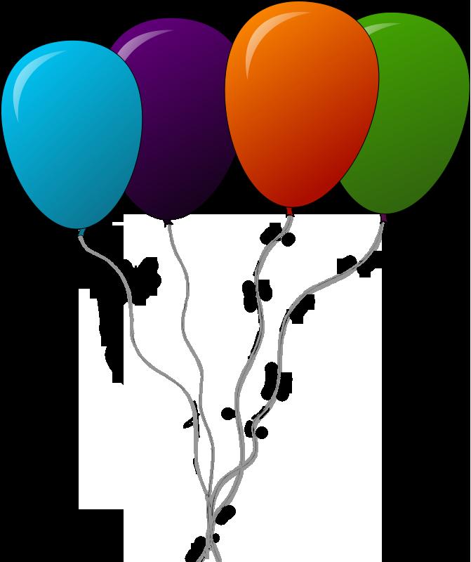 671x800 Blue Balloon Clip Art