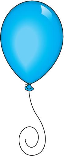 208x502 Blue Balloon Clipart