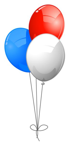 308x600 Balloon Clipart Red And Blue