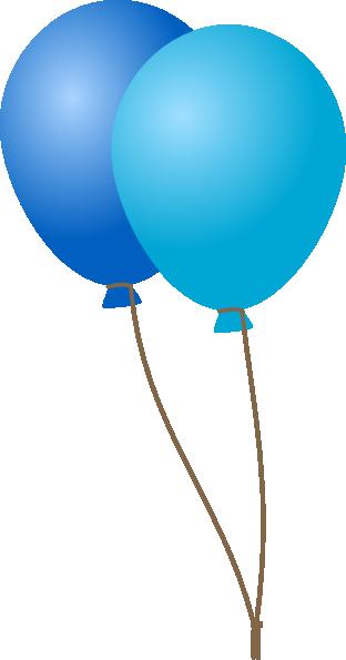 312x595 Emmas Blue Balloons Clip Art
