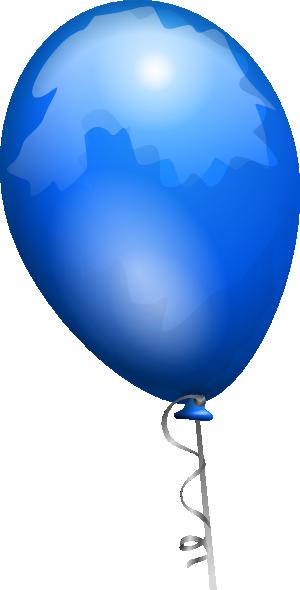 300x590 Free Blue Balloon Clip Art