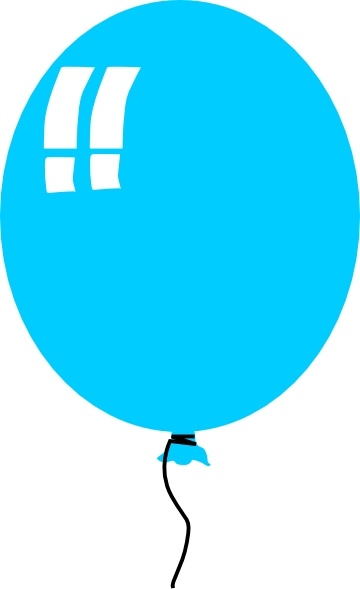 360x589 Helium Blue Balloon Clip Art Free Vector In Open Office Drawing