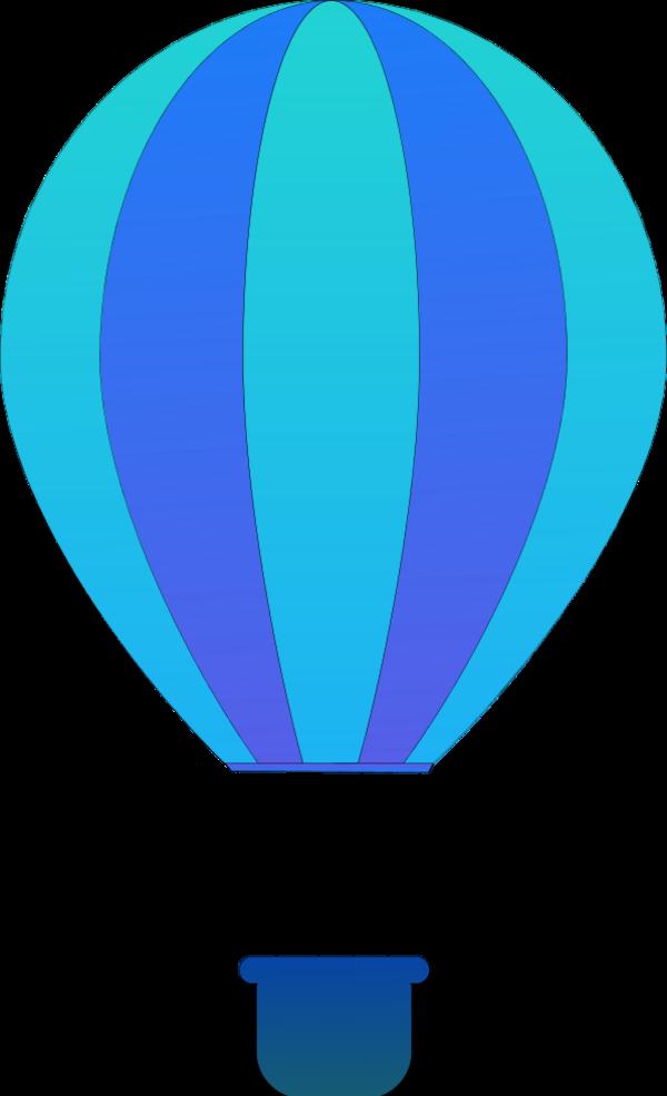 600x985 Hot Air Balloon Clipart Blue
