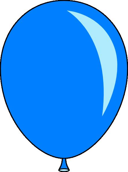 444x597 New Blue Balloon Clip Art