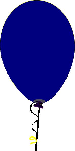 294x590 Straight Flat Blue Balloon Clip Art