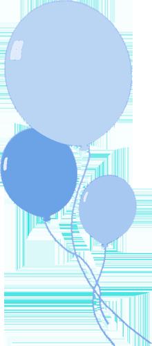 220x500 Balloon Clipart Baby Blue