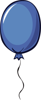 167x400 Balloon Clipart Dark Blue