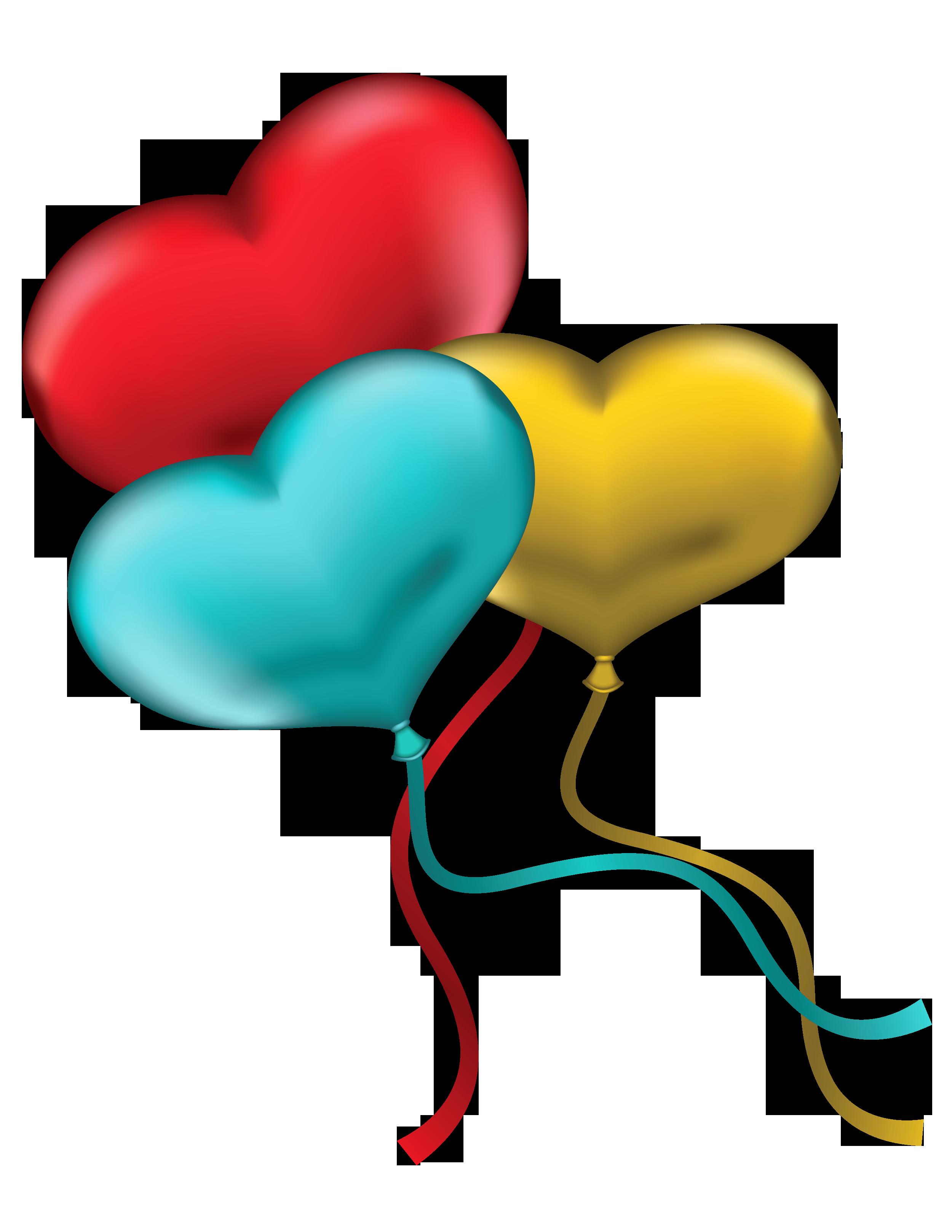 2500x3235 Balloon Clipart Blue Heart