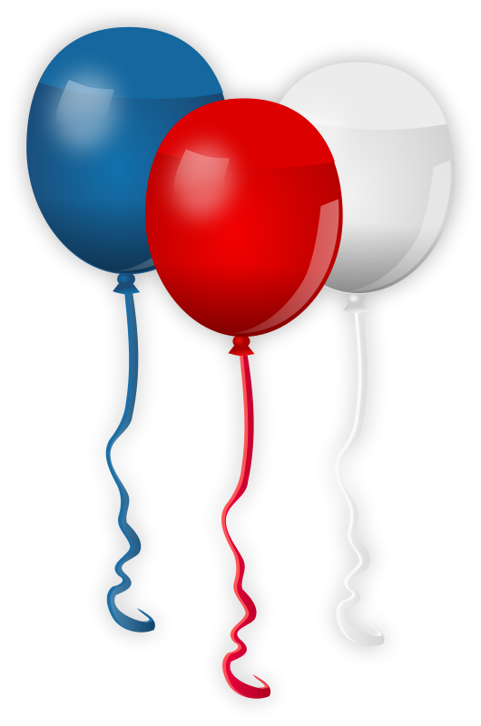 530x800 Balloon Clipart Red And Blue