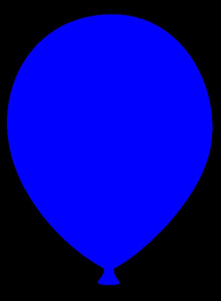 440x600 Blue Balloons Clipart