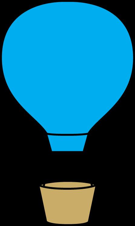 446x747 Blue Hot Air Balloon Clip Art Clipart Panda