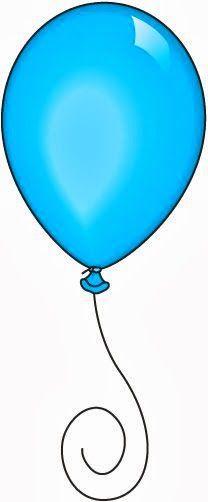 208x502 Light Blue Clipart Balloon