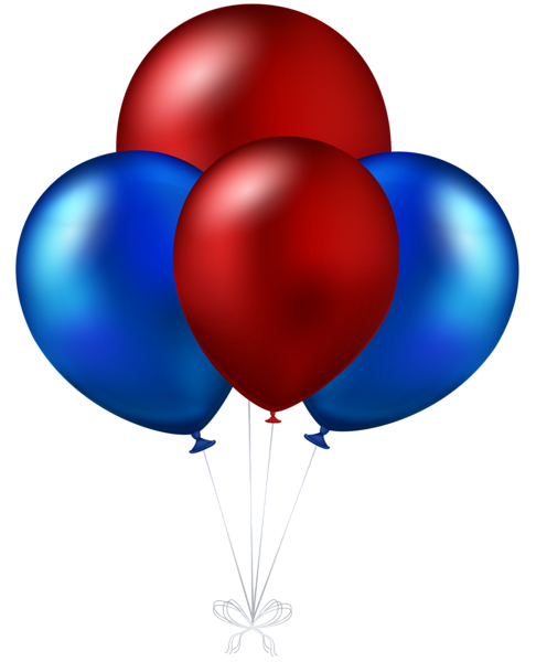 486x600 Red And Blue Balloons Transparent Png Clip Art Image Happy