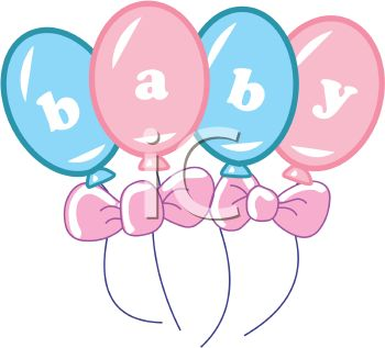 350x317 Royalty Free Clip Art Image Baby Spelled Out On Pink And Blue