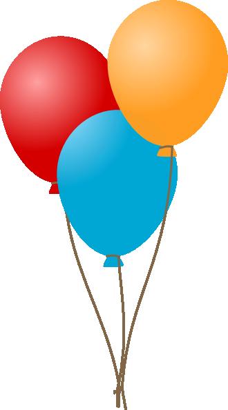 330x594 Three Balloons Clip Art