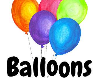 340x270 Watercolor Balloon Etsy