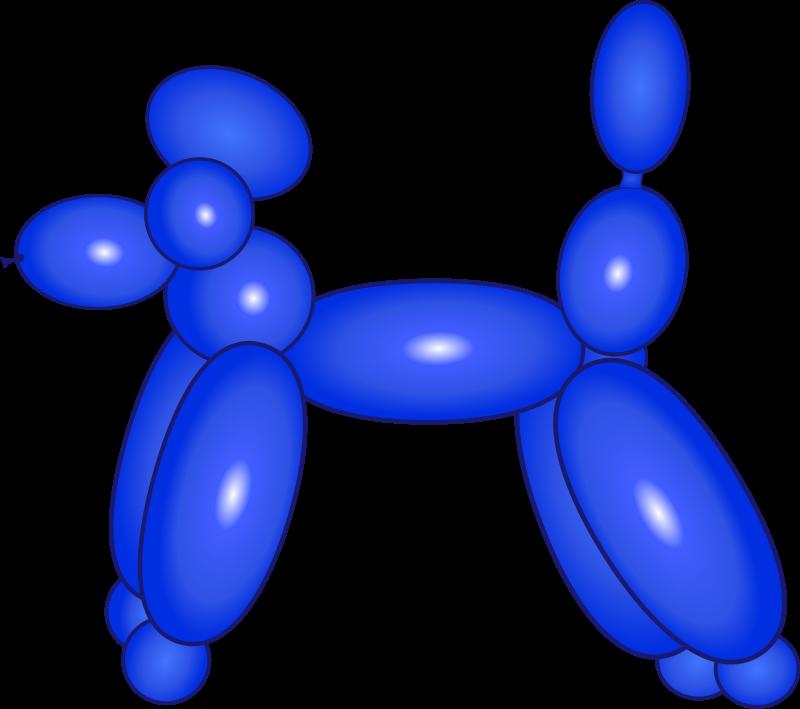 800x709 Balloon Dog Blue Free Vector 4vector