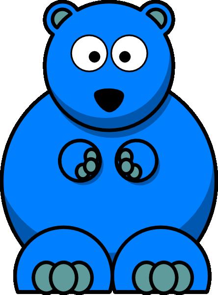 444x600 Blue Bear Clip Art