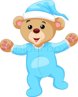 258x320 Blue Teddy Bear Stock Vector Colourbox