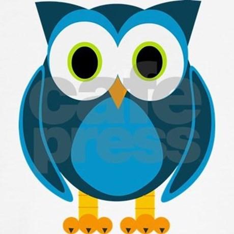 460x460 Cute Blue Cartoon Owl Teddy Bear By Muttsandwhats