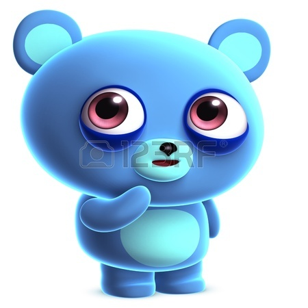 450x450 3d Cute Blue Bear Stock Photo, Picture And Royalty Free Image