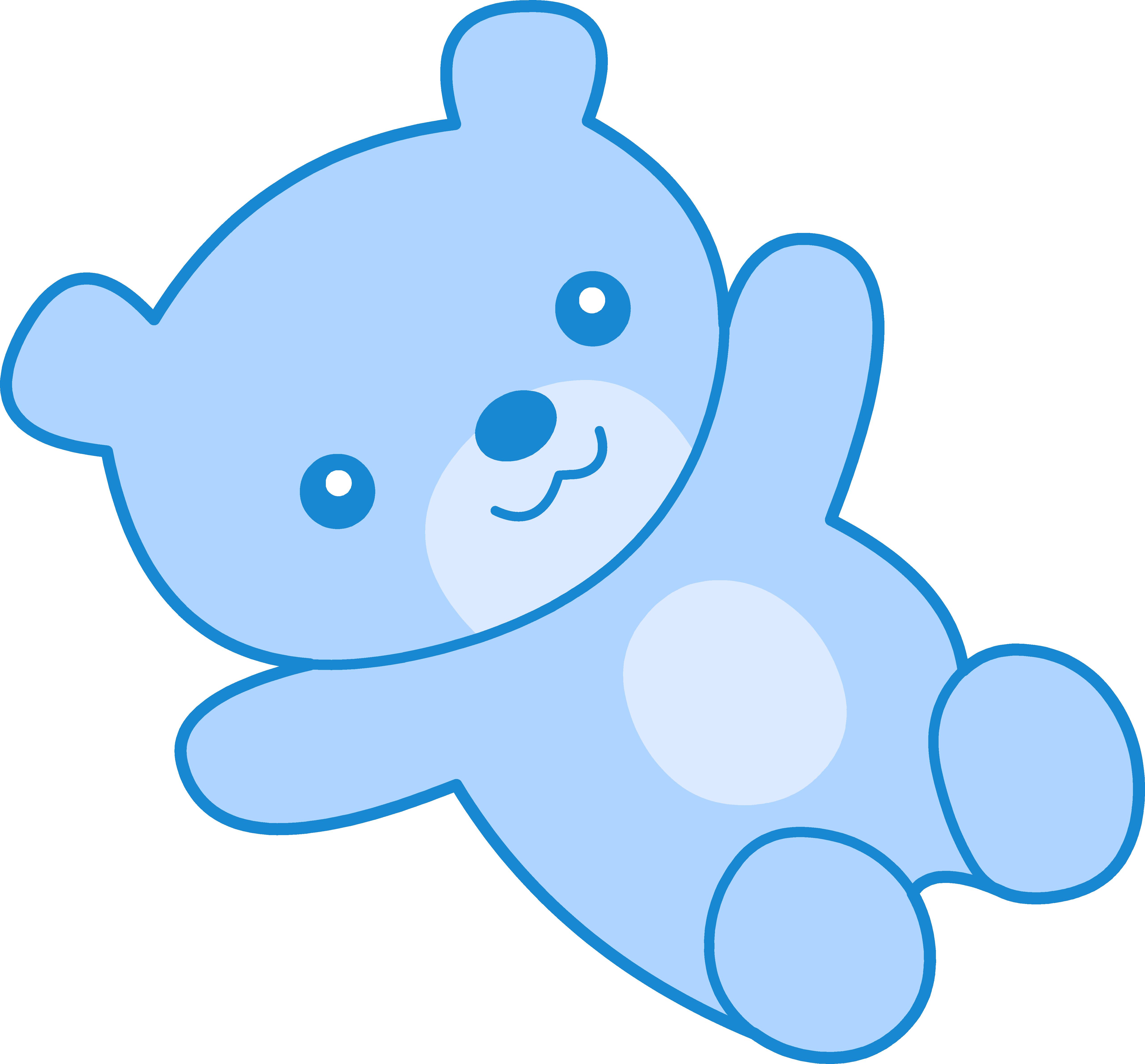 5120x4760 Cute Blue Teddy Bear Clipart