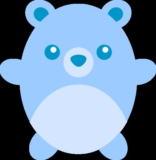 534x550 Cute Chubby Blue Teddy Bear
