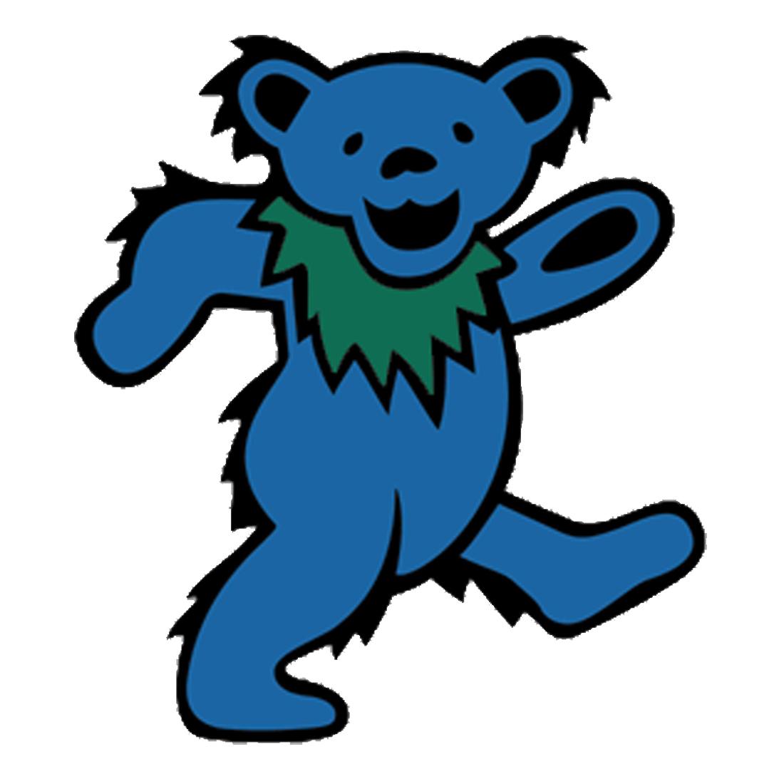 1100x1100 Grateful Dead Blue Bear Diecut Sticker Liquid Blue