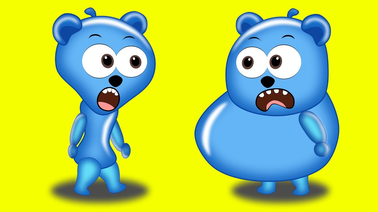1280x720 Gummy Bear Clipart Blue