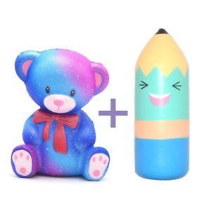 300x300 Kiibru Slow Rising Squishy Teddy Bear Galaxy + Areedy Blue Cartoon