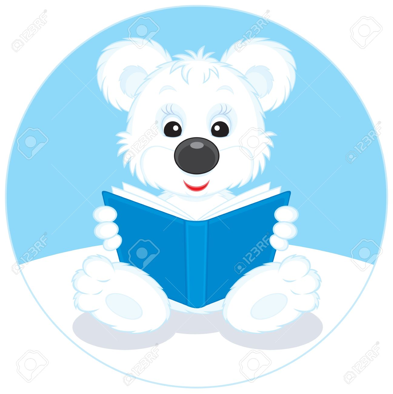 1297x1300 Bear Reading Clipart