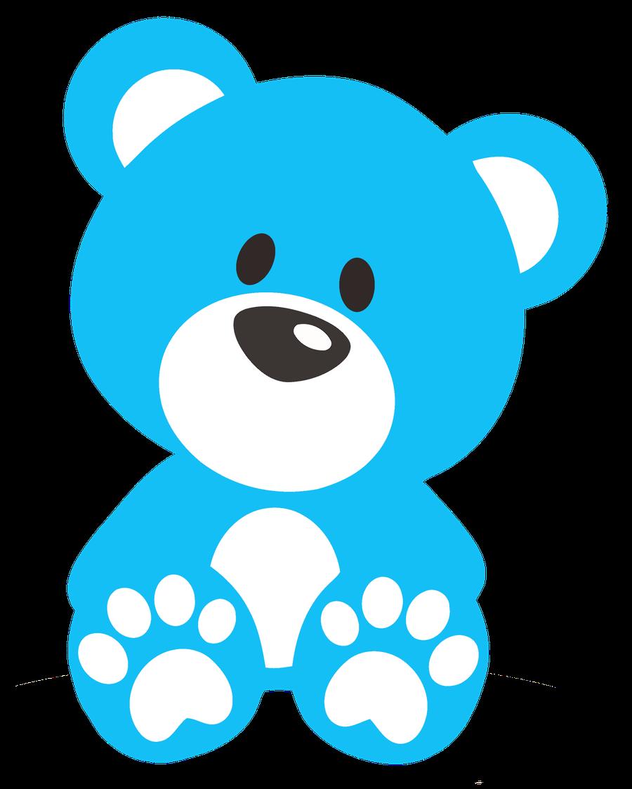 900x1123 Bear Clipart Blue