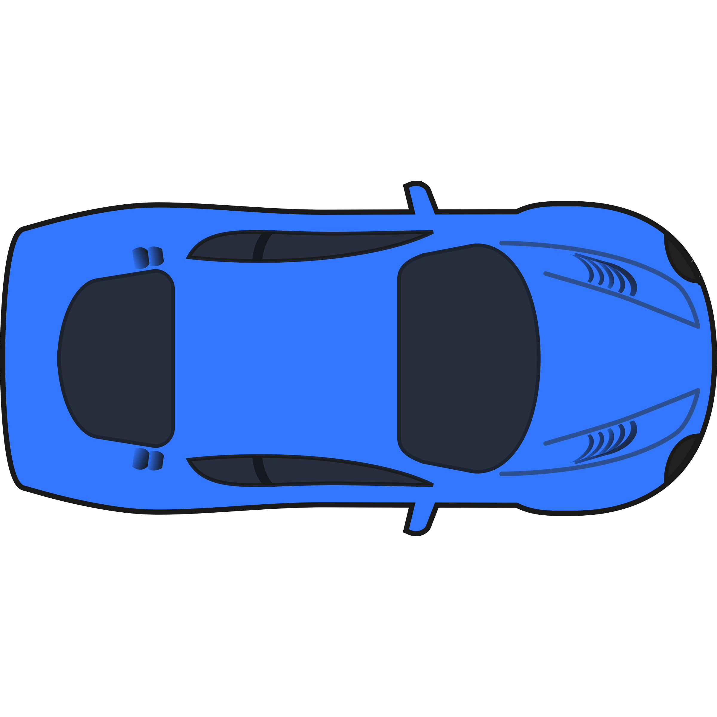 Blue Car Clipart